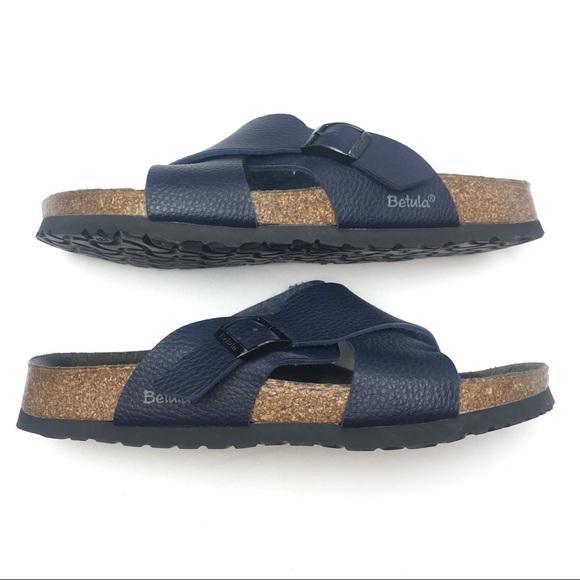 3d62e7880dba04 Birkenstock Shoes - Birkenstock Betula Navy Criss Cross Sandals